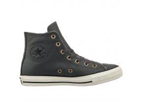 Kožené Converse Chuck Taylor All Star Leather šedá