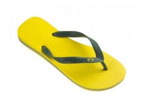 Unisex plážové žabky Havaianas BRASIL Citrus Yellow