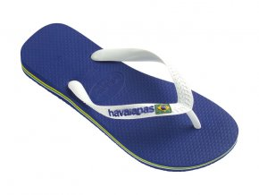 Unisex plážové žabky Havaianas BRASIL Logo Blue Azul Naval
