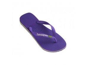 Plážové žabky Havaianas BRASIL Logo Purple