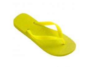 Dámské plážové žabky Havaianas TOP Neon Yellow