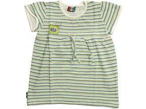 Dívčí šaty Loap DORKA bílá/barevné proužky