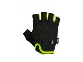 Unisex cyklistické rukavice R2 TUNE ATR05D Černá/zelená