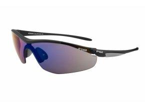 Sportovní sluneční brýle R2 LOOP XS AT025G černá, šedá matná