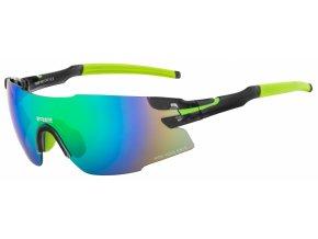 Sportovní sluneční brýle R2 DRAGON AT091B Černá, zelená lesklá