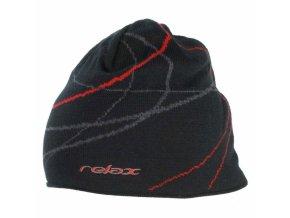 Zimní čepice Relax RKH27C černo červená