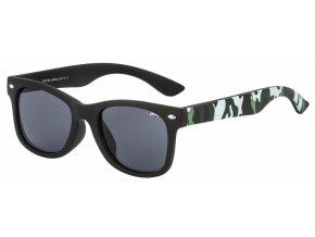 Dětské sluneční brýle Relax Langli R3075A rubber černá, maskáčová