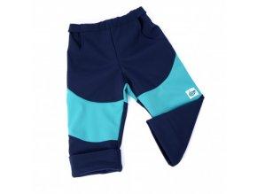 Dětské softshellové kalhoty ADRY Modrá/tyrkys