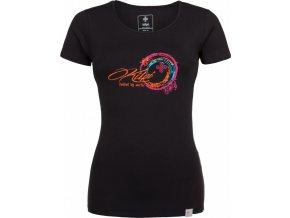 Dámské bavlněné tričko KILPI BUBBLE-W Černá