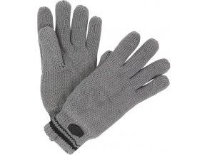 91526 panske pletene rukavice regatta rmg018 balton glove seda