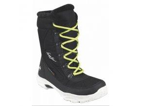 Dětská zimní obuv Loap ICE KID Černá/Zelená