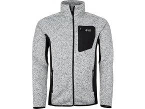 Pánský fleece svetr KILPI RIGAN-M  Bílá 19 (NADMĚRNÁ VELIKOST)