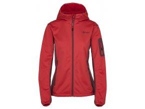 92501 damska softshell bunda kilpi fordino w cervena nadmerna velikost