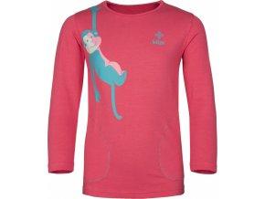 Dívčí bavlněné tričko KILPI SIMBA-JG Růžová 19