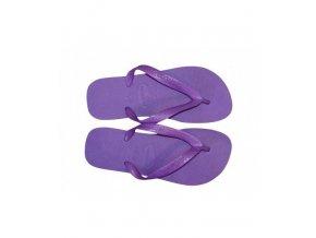 Dámské plážové žabky Havaianas BRASIL Logo fialové 1