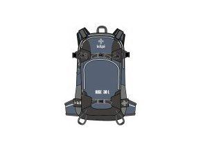 Freeridový/skialpový batoh KILPI RISE-U Šedý 20