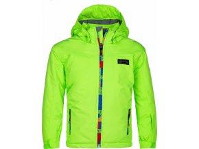 Chlapecká lyžařská bunda LIGAS-JB Zelená