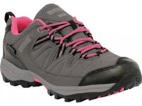 Dětská trekingová obuv REGATTA RKF449 Holcombe Šedá Růžová
