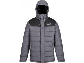 Pánská zimní bunda Regatta RMN137 Nevado III Šedá/Černá