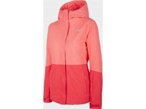 Dámská lyžařská bunda 4F KUDN302 Růžová koral