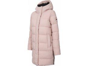 Dámský péřový kabát 4F KUDP206 Růžový