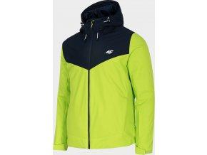 Pánská lyžařská bunda  4F KUMN301 Zelená