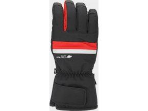 97592 panske lyzarske rukavice 4f rem350 cervene