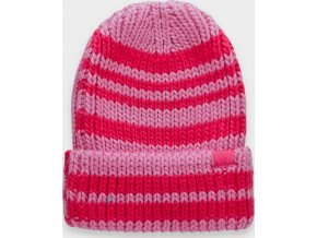Dámská zimní čepice 4F  CAD158 Hot růžová