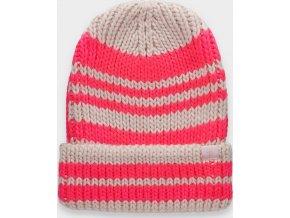 Dámská zimní čepice 4F CAD158 Růžová
