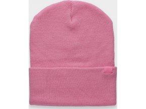 Dámská zimní čepice 4F CAD301 Růžová NEON