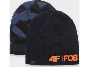 Pánská oboustraná čepice 4f CAM155 Modrá