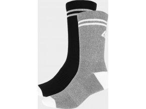 Dámské ponožky 2 páry 4F SOD209 Černé/Šedé