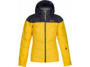 Dámská péřová lyžařská bunda KILPI BUFFY-W Žlutá
