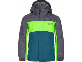 Chlapecká lyžařská bunda  KILPI OBER-JB Tyrkysová