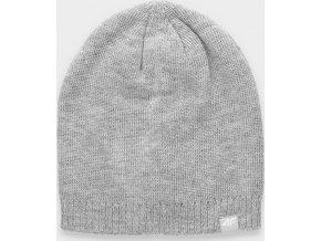 Pánská zimní čepice 4F CAM061 Světle šedá