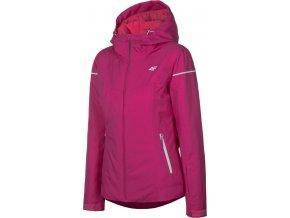 Dámská lyžařská bunda 4F KUDN070 Tmvě růžová