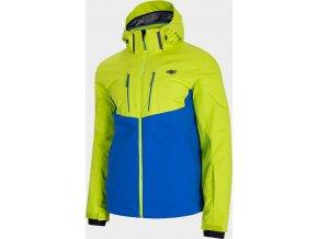 Pánská lyžařská bunda 4FPRO KUMN011 Zelená/modrá