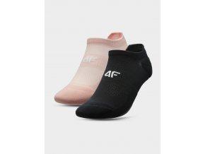 Dámské běžecké ponožky 4F SOD210 Růžové Černé (2páry)