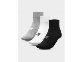 Pánské ponožky 4F SOM302 Šedé Bílé Černé (3páry)