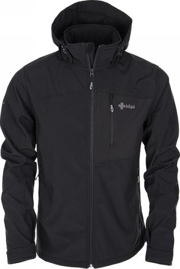 Pánská softshellová bunda KILPI ELIO černá Barva: Černá, Velikost: XS