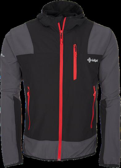Pánská technická bunda KILPI JOSHUA černá Barva: Černá, Velikost: 3XL