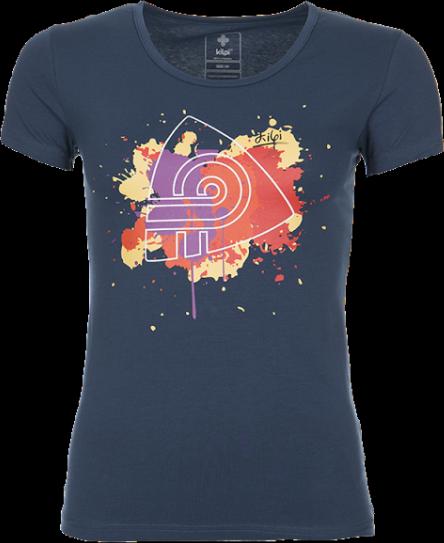 Dámské tričko KILPI MURRAYA Modrá Barva: Modrá, Velikost: 36