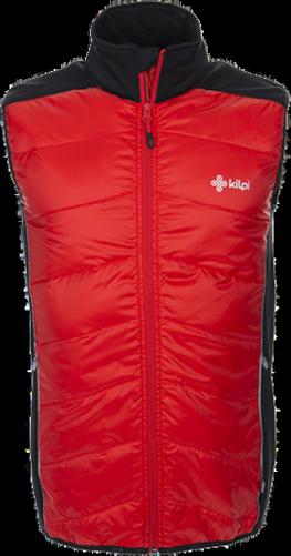 Pánská lehká strečová bunda KILPI RUFFINO červená Barva: Červená, Velikost: 3XL