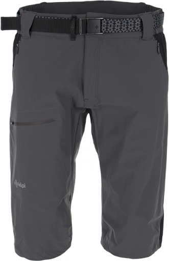 Pánské technické 3/4 kalhoty KILPI SOPHIN šedá Barva: Šedá, Velikost: S