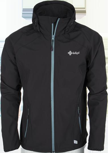 Pánská softshellová bunda KILPI TADDEO Černá Barva: Černá, Velikost: XL
