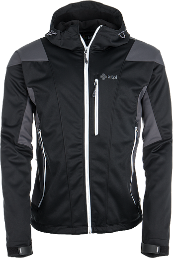 Pánská softshellová bunda KILPI WINSTON černá/šedá Barva: Šedá, Velikost: XXL