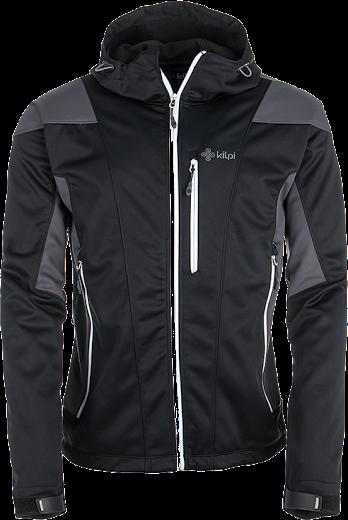 Pánská softshellová bunda KILPI WINSTON černá/šedá Barva: Šedá, Velikost: S