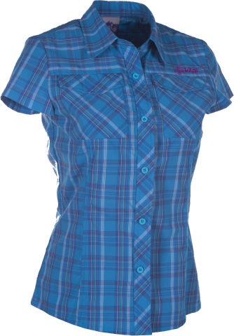 Dámská technická košile KILPI GALLINERA I. Modrá Barva: Modrá, Velikost: 38
