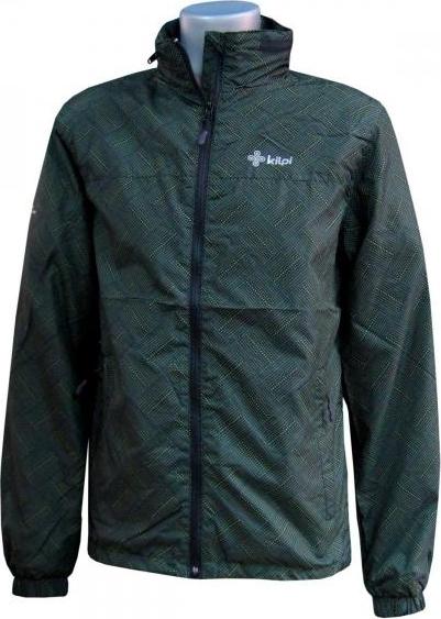 Pánská lehká bunda KILPI PRICHARD II. zelená-potisk Barva: Zelená, Velikost: S