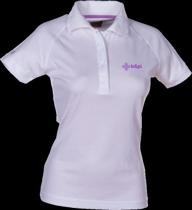 Dámské funkční POLO tričko KILPI MEDICINE VI.Bílá Barva: Bílá, Velikost: 40